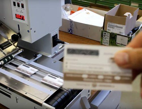 Rubbelkarten  etikettieren